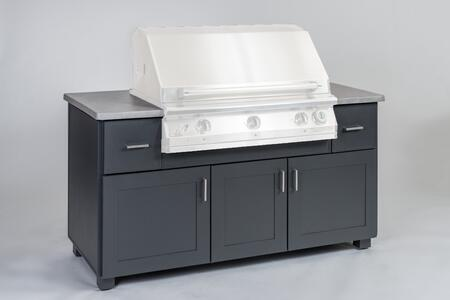67MOD 67″ Modano Series BBQ Island with Fully Welded Extruded Aluminum Frames and Cast Aluminum Countertop in