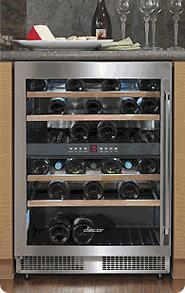 Dacor Classic Epicure EF24LWCZ2SS Wine Cooler 26-50 Bottles Stainless Steel, 1