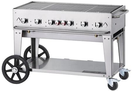 Crown Verity CVMCB48 Commercial Outdoor Grill Stainless Steel, CVMCB48 Side View