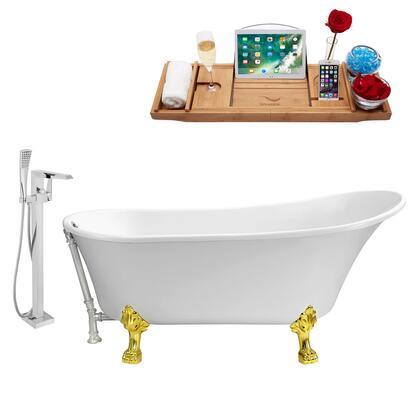 Streamline NH340GLDCH100 Bath Tub, NH340GLD CH 100 1T