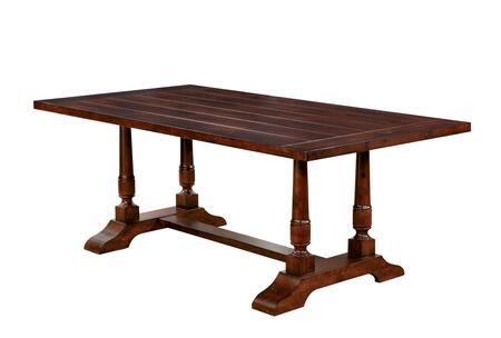 Furniture of America Griselda CM3136T Dining Room Table Brown, 1
