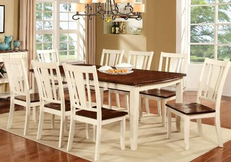 Furniture of America Dover CM3326WCT Dining Room Table Multi Colored, main image