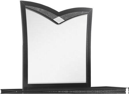 Global Furniture USA Global Furniture USA BEVERLYMETALLICBLACKMR Mirror Black, products global furniture color beverly  1131074325 beverly metallic black mr b3