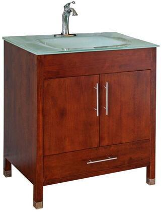Bellaterra Home 203110 203110W Sink Vanity Brown, Single Sink Vanity