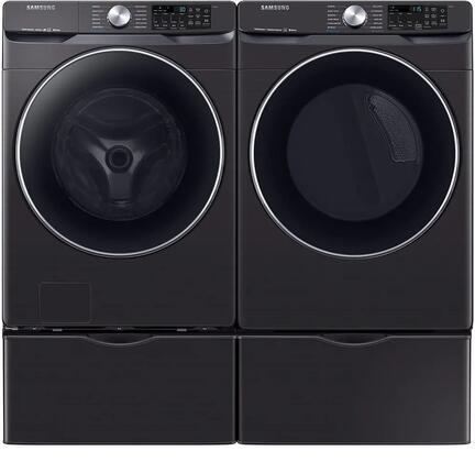 Samsung  1011046 Washer & Dryer Set Black Stainless Steel, 1