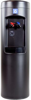 MJP-B Peak Black BottleLess Water Cooler with Stainless Steel Cold and Hot Reservoirs  UV-Resistant HDPE Cabinet  1200 Gal. Certified Water
