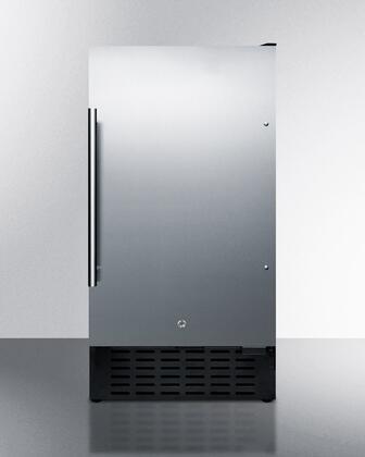 Summit  FF1843BSSADA Compact Refrigerator Stainless Steel, Main Image