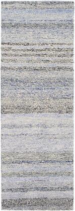 Zola ZOL-3000 2'6″ x 8′ Runner Rustic Rugs in Denim  Dark Blue  Navy