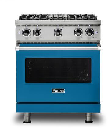 Viking 5 Series VGR5304BABLP Freestanding Gas Range Blue, VGR5304BABLP Gas Range