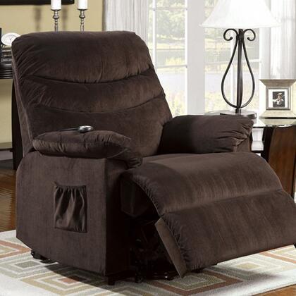 Furniture of America Perth CMRC6933 Recliner Chair Brown, Main Image