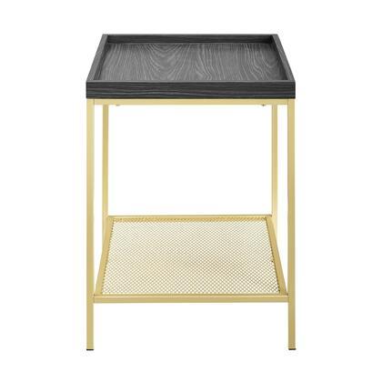 AF18EMSTGRG 18    Square Tray Side Table with Mesh Metal Shelf –
