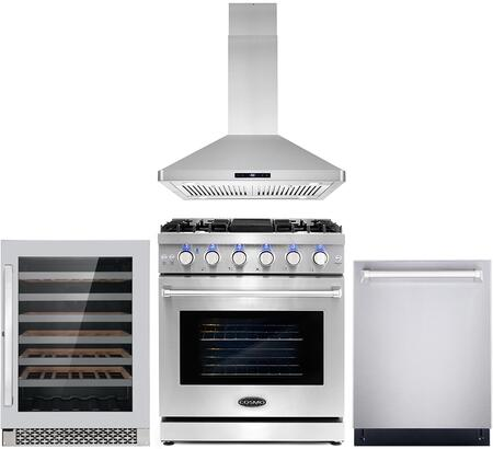 Cosmo  COS4PKG102 Kitchen Appliance Package Stainless Steel, COS 4PKG 102