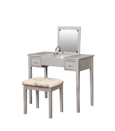 Linon 98135SIL01 Stool, 98135SIL01%20Silver%20Butterfly%20Vanity%20and%20Stool