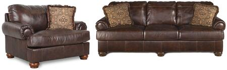 Signature Design by Ashley Axiom 42000SC Living Room Set Brown, 2 PC Set