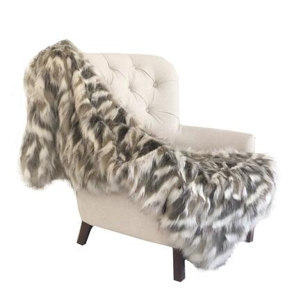 Plutus Brands Tibet Faux Fox PBSF1405108X90T Sofa Accessory, PBSF1405