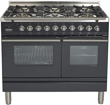 Ilve Professional Plus UPDW1006DMPM Freestanding Dual Fuel Range Black, UPDW1006DMPM