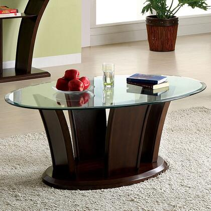 Furniture of America Manhattan IV CM4104C Coffee and Cocktail Table Brown, Main Image