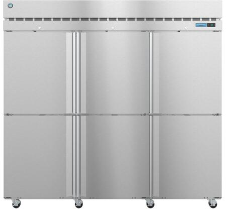 F3A-HS 83″ Steelheart Series Three Section Half Door Reach-In Freezer with 79.03 cu. ft. Capacity  9 Adjustable Shelves  4″ Casters and LED Lighting