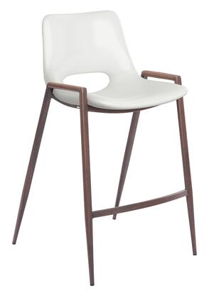 Zuo Desi 109069 Counter Chairs White, 109069 1