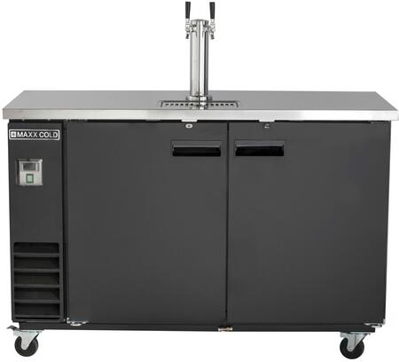MXBD60-1B 62″ X-Series Keg Cooler with 14.2 cu. ft. Capacity  Single Tower  4″ Casters and Self-Contained Forced Air Refrigeration System in