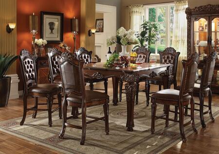 Acme Furniture Vendome 62025T8C Bar Table Set Brown, 9 PC Set