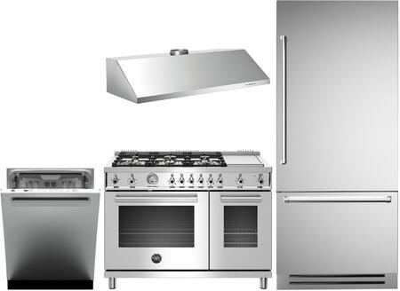 Bertazzoni  1000157 Kitchen Appliance Package Stainless Steel, main image