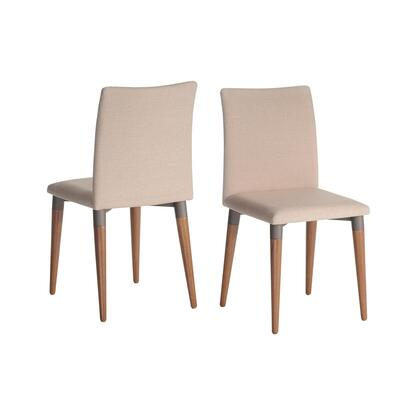 Manhattan Comfort Charles 21011452 Dining Room Chair Beige, 2 1011452 A