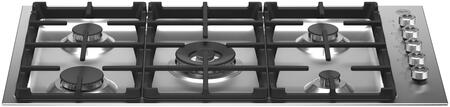 Bertazzoni Professional PROF365QXE Gas Cooktop Stainless Steel, PROF365QBXE Sealed Burner Gas Cooktop