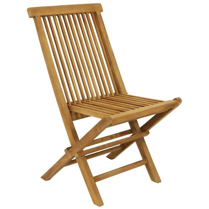 JVA-292 Hyannis Teak Outdoor Folding Patio Chair with Slat Back - 1
