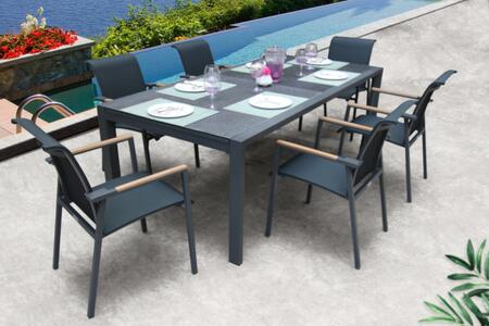 Bellini Home and Gardens ANew PA03407WPA196G Outdoor Patio Set Gray, PA03407WPA196G Outdoor Set