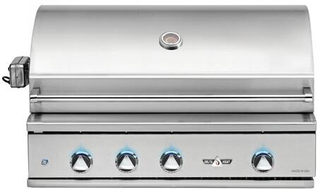 DHBQ38R-DN 38″ Built-In Natural Gas Grill with Three Stainless Steel U-Burners  Rotisserie 625 sq. in. Grilling Space  Warming Rack and LED Control