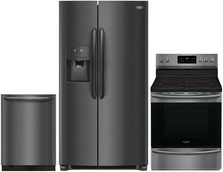 Frigidaire 988179 Kitchen Appliance Package & Bundle Black Stainless Steel, main image