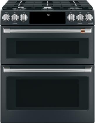 Cafe Customizable Professional Collection CGS750P3MD1 Slide-In Gas Range Black, Main Image