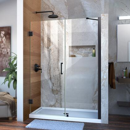 DreamLine  SHDR2051721009 Shower Door , Unidoor Shower Door with Base 12 28D 24P support arm 09 72 WM 11 16