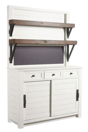 Junction Collection 710-580R Shiplap Cupboard in White Collar  Smoke and