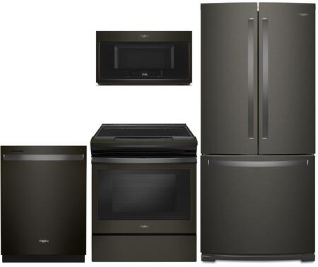 Whirlpool  1010003 Kitchen Appliance Package Black Stainless Steel, main image