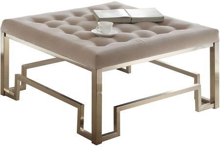 Acme Furniture Damien 81625 Living Room Ottoman Beige, 1