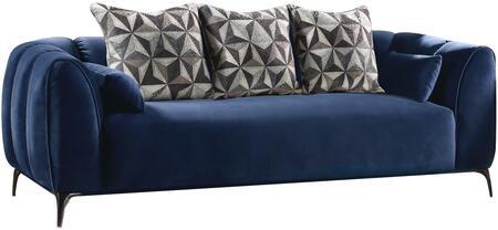 Acme Furniture Hellebore 50435 Stationary Sofa Blue, Sofa
