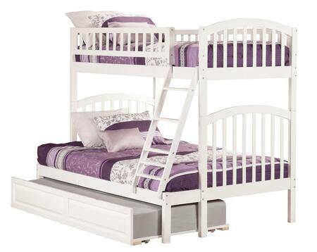 Atlantic Furniture Richland AB64232 Bed White, AB64232 side