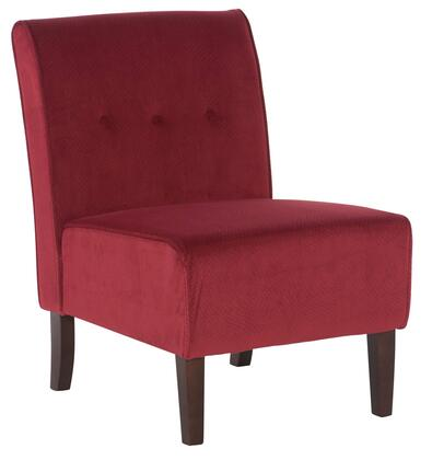 Linon Coco 36096RED01KDU Living Room Chair Red, 36096RED01KDU side