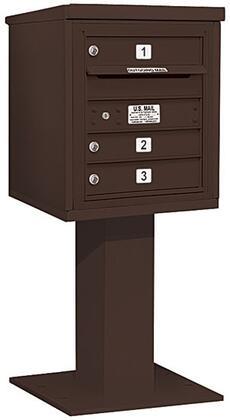 Black Salsbury Industries 3405S-03BLK 4C Pedestal Mailbox