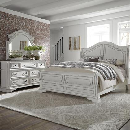 Liberty Furniture Magnolia Manor 244BRQSLDM Bedroom Set White, 244 br qsldm