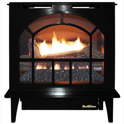 Hepplewhite Series NV S-HPPLEWHT BLK-NG Natural Gas Steel Stove in