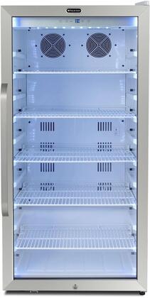 CBM-815WS 24″ Commercial Beverage Merchandiser Refrigerator with 8.1 cu. ft. Capacity  Superlit Door  Lock  5 Chrome Wire Racks  Digital Temperature