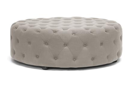 Wholesale Interiors Cardiff 501BEIGEOTTO Living Room Ottoman Beige, 501-BEIGE-OTTO Front
