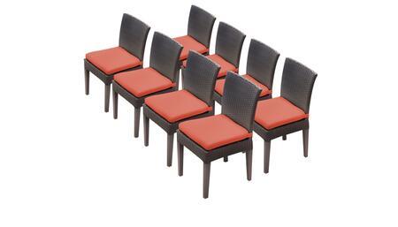 TK Classics BARBADOSTKC090BADC4XCTANGERINE Patio Chair, BARBADOS TKC090b ADC 4x C TANGERINE