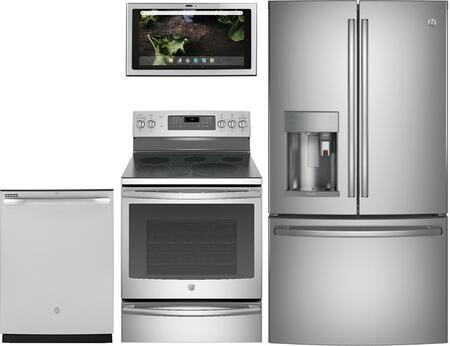 GE Profile 1077350 Kitchen Appliance Package & Bundle Stainless Steel, main image