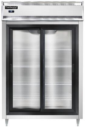 Continental Refrigerator Designer Line D2RSNSASGD Reach-In Refrigerator Stainless Steel, D2RSNSASGD Reach-In Refrigerator