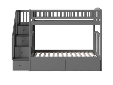 Atlantic Furniture Westbrook AB65649 Bed Gray, AB65649