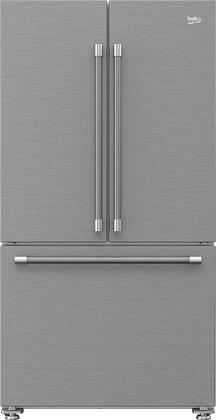 BFFD3624SS 36″ Counter Depth French Door Refrigerator with 19.86 cu. ft. Capacity  EverFresh+  NeoFrost Dual Cooling Technology and IonGuard